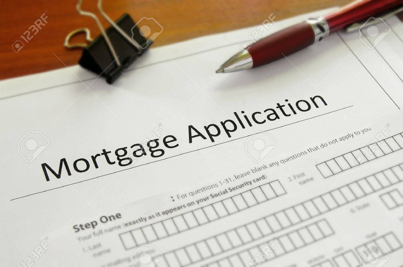 Closeup Of A Blank Mortgage Application Form Photo Picture – Blank Mortgage Form