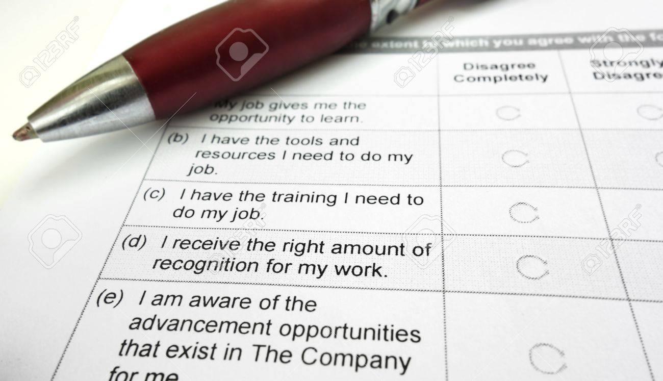 Company employee opinion survey and pen - 29100126