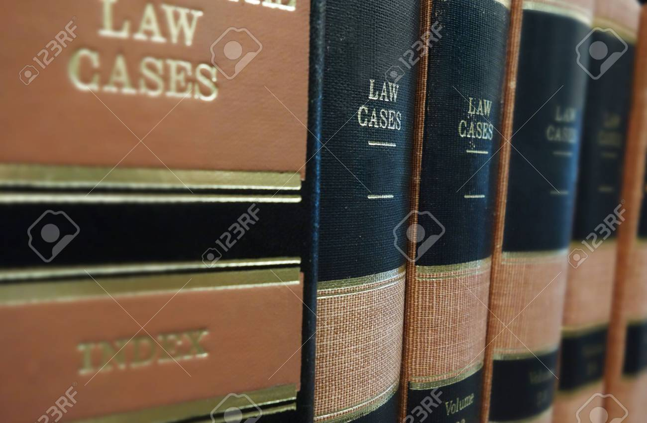 Law books Law Cases on a shelf - 30663017