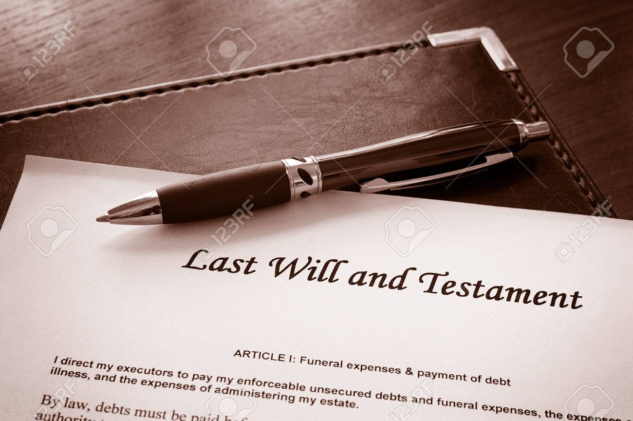 Last Will and testament document - 33357242