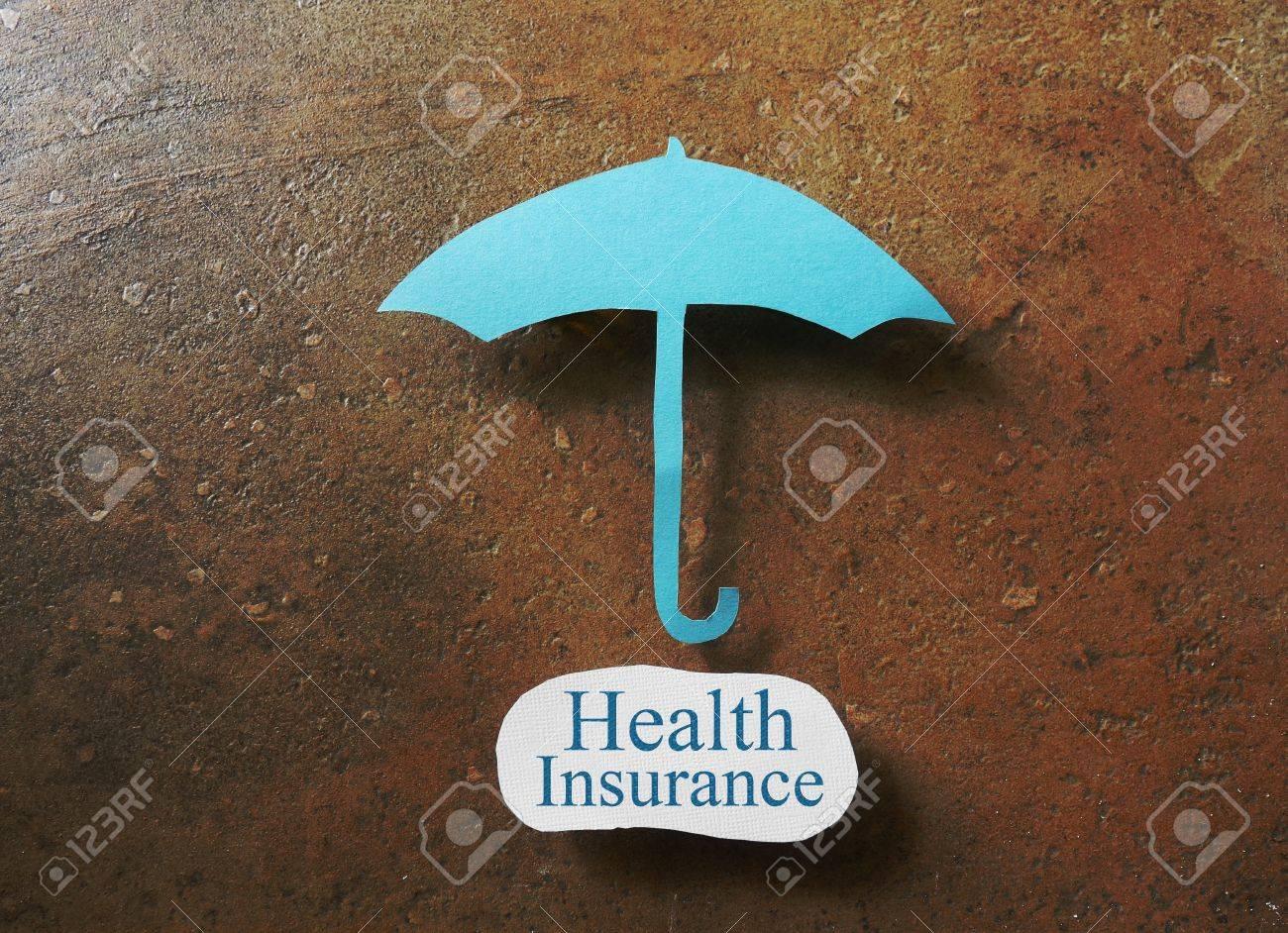 健康保険メッセージにわたって紙...