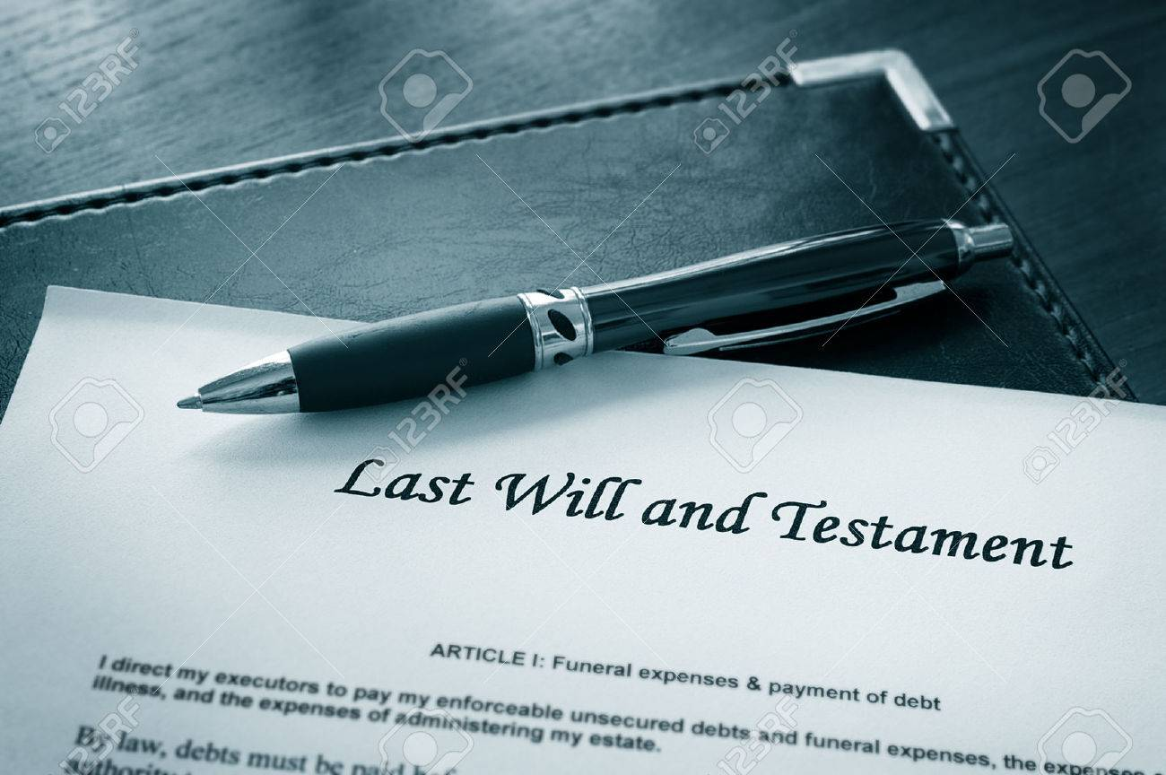 Last Will and testament document with pen - 46638062