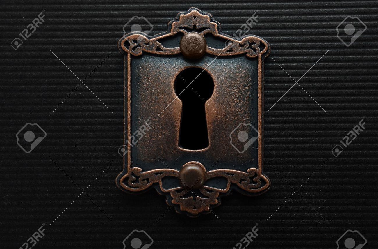 Keyhole on old fashioned door lock Stock Photo - 59989962 & Keyhole On Old Fashioned Door Lock Stock Photo Picture And Royalty ...
