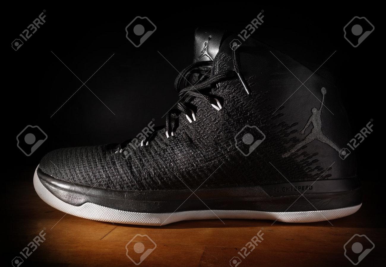 RALEIGH,NC/USA - 12-13-2018: Nike Air Jordan FlightSpeed basketball..