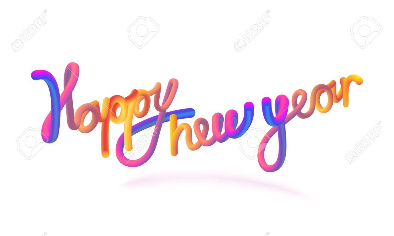 Happy New Year Orange 34