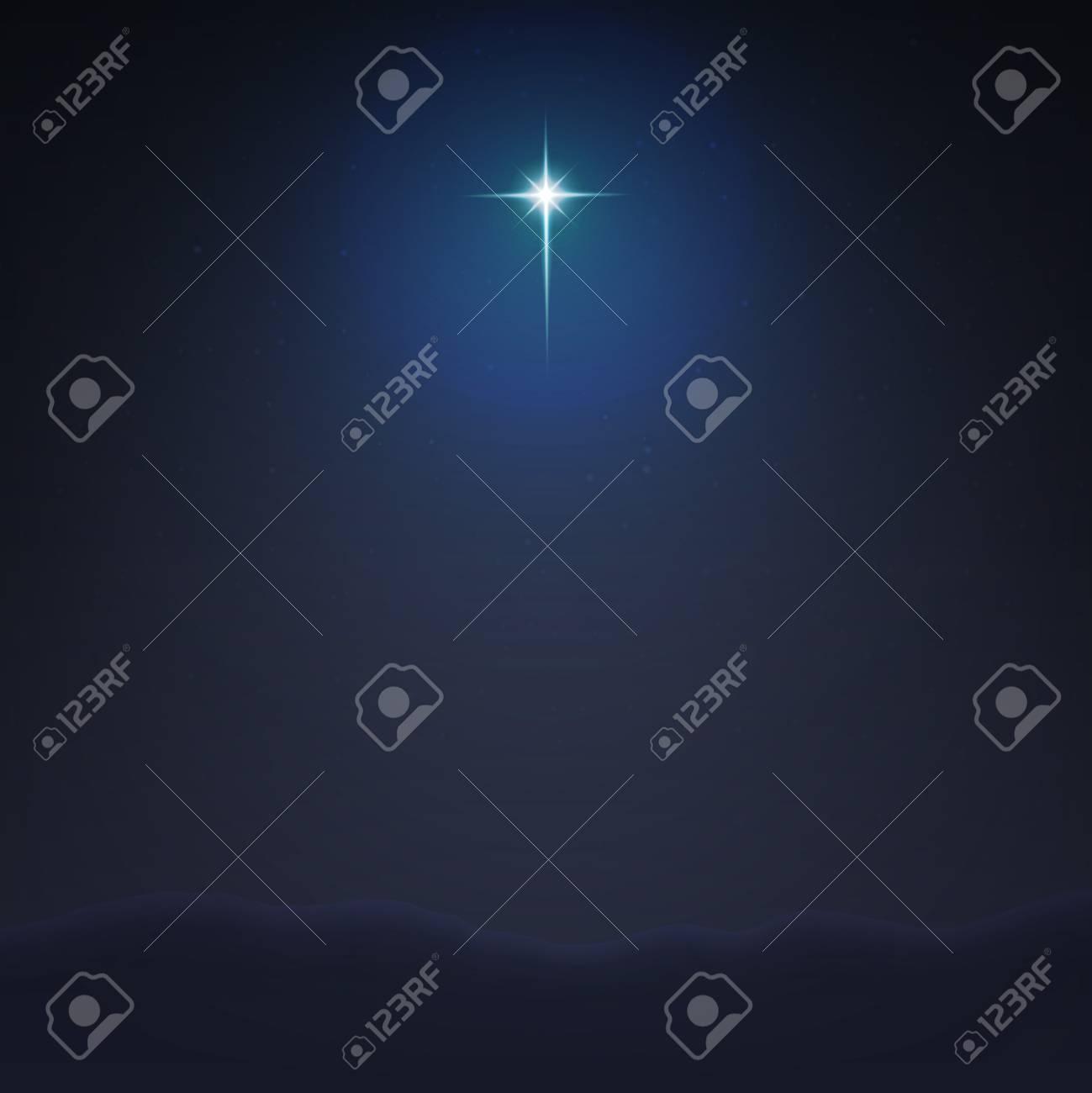 Stock vector illustration Bethlehem Star minimalistic background. The Birth of Jesus Christ. EPS 10 - 104619276