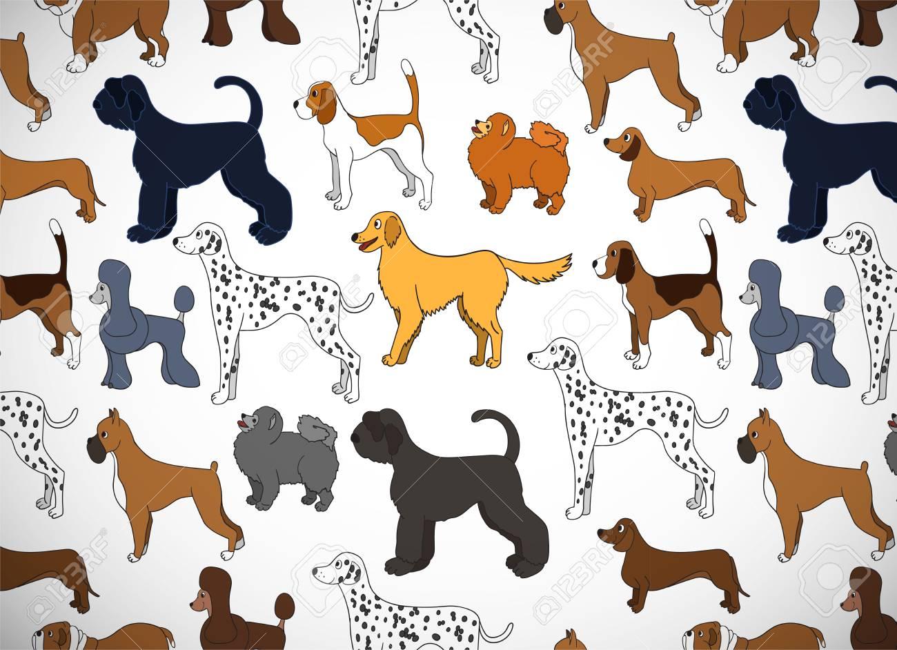 Linda Tarjeta De Felicitación Con Perros De Dibujos Animados ...