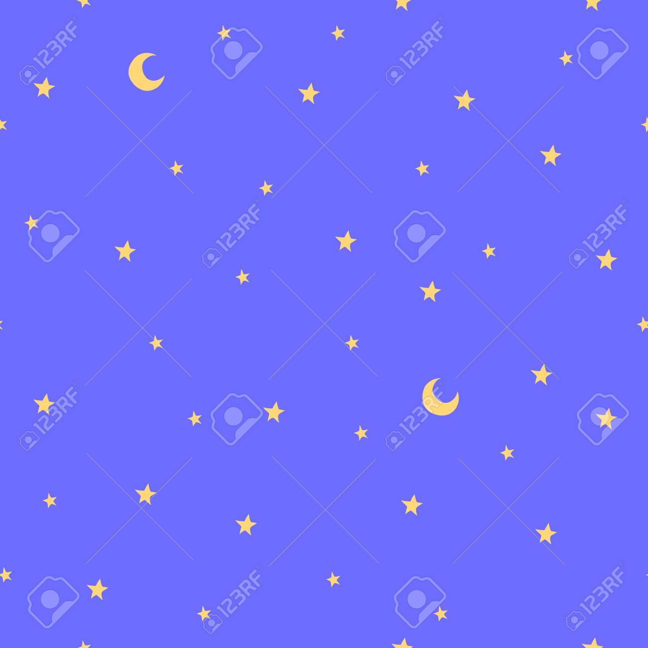 Vettoriale Modello Senza Cuciture Con Stelle E Luna Buona Notte