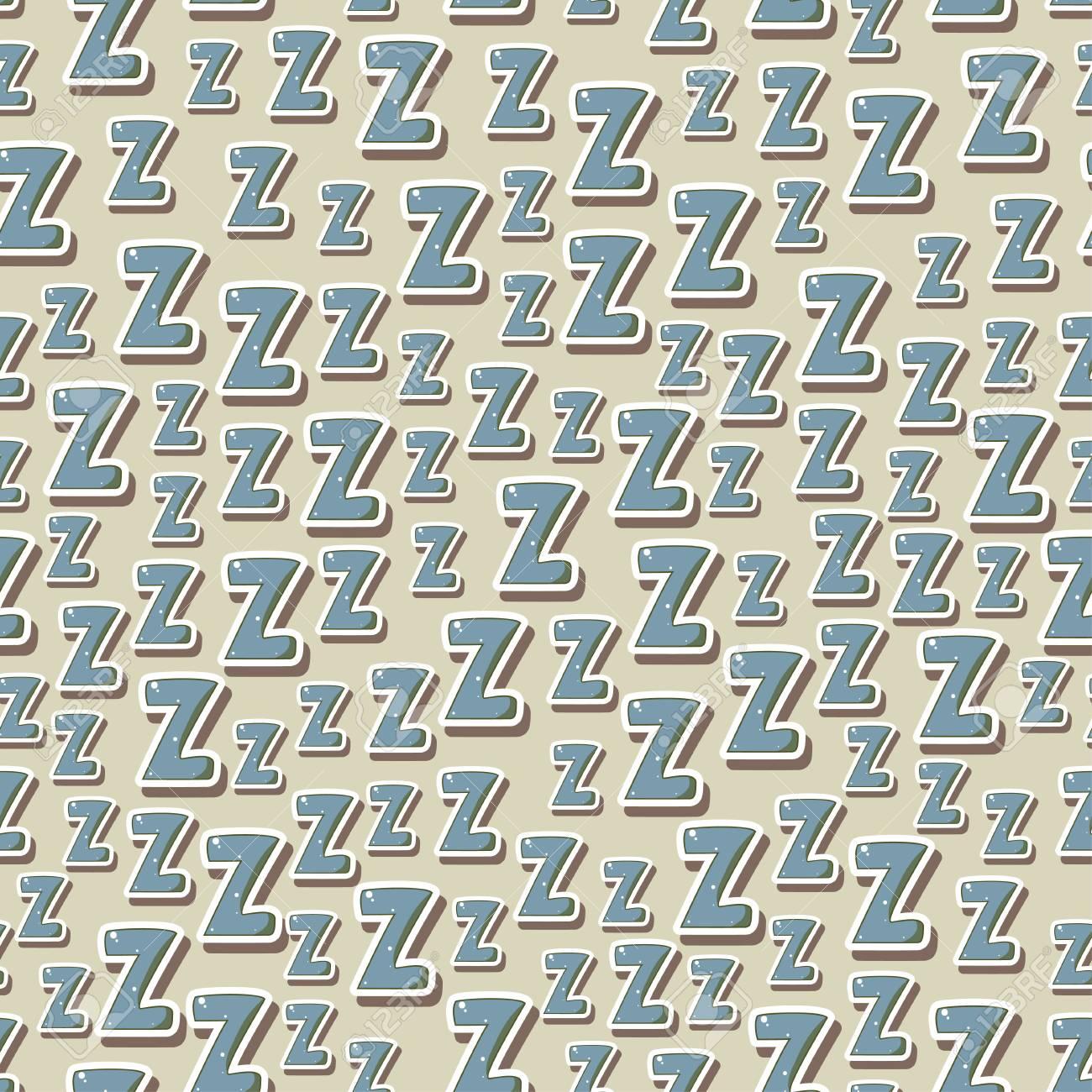 Schlafzimmer Textilien | Nahtloses Kindisches Muster Mit Buchstaben Z Zzz Fur Textilien