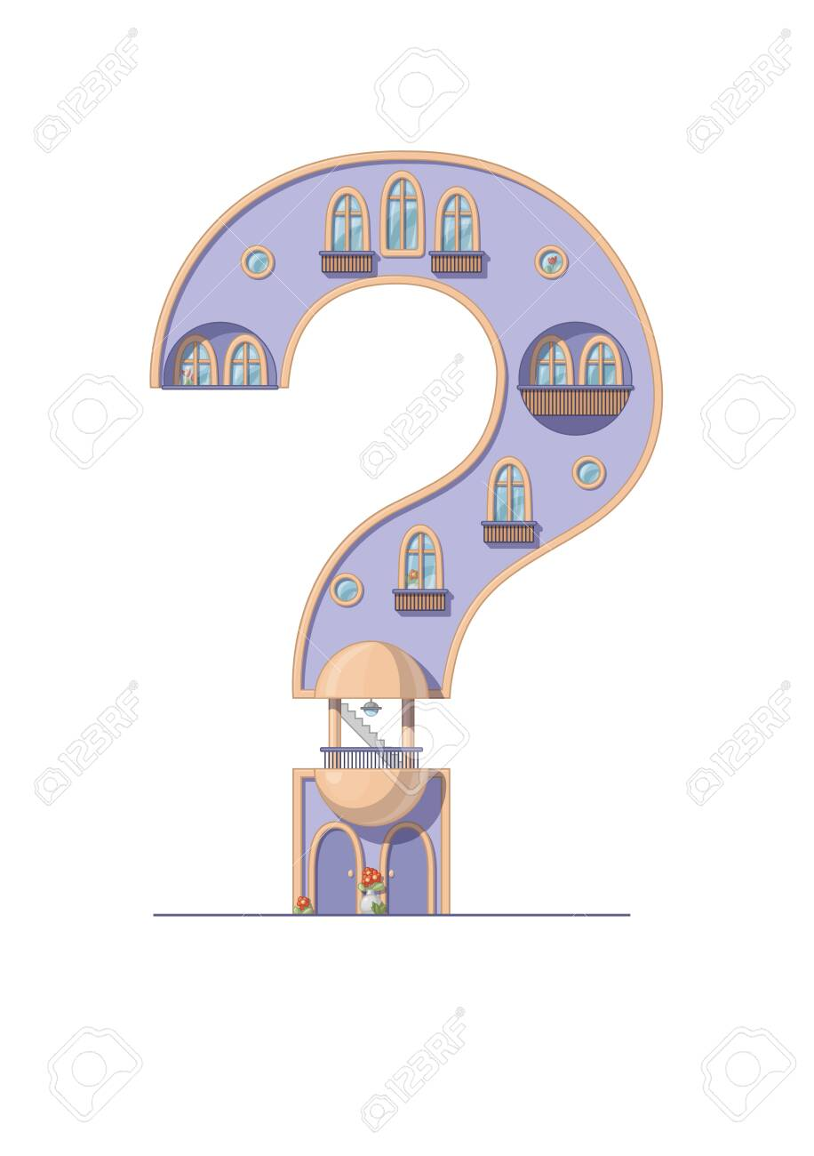 image about Printable Question Mark referred to as Speculate mark household isolated upon white history. Vertical portrait..
