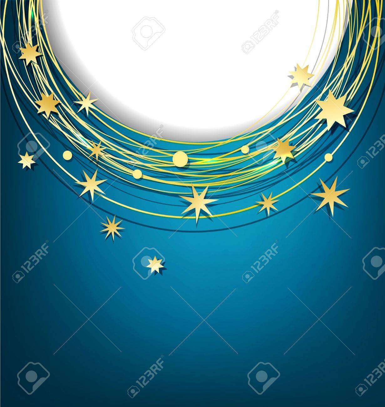 vector abstract background with gold stars Stock Vector - 18226060