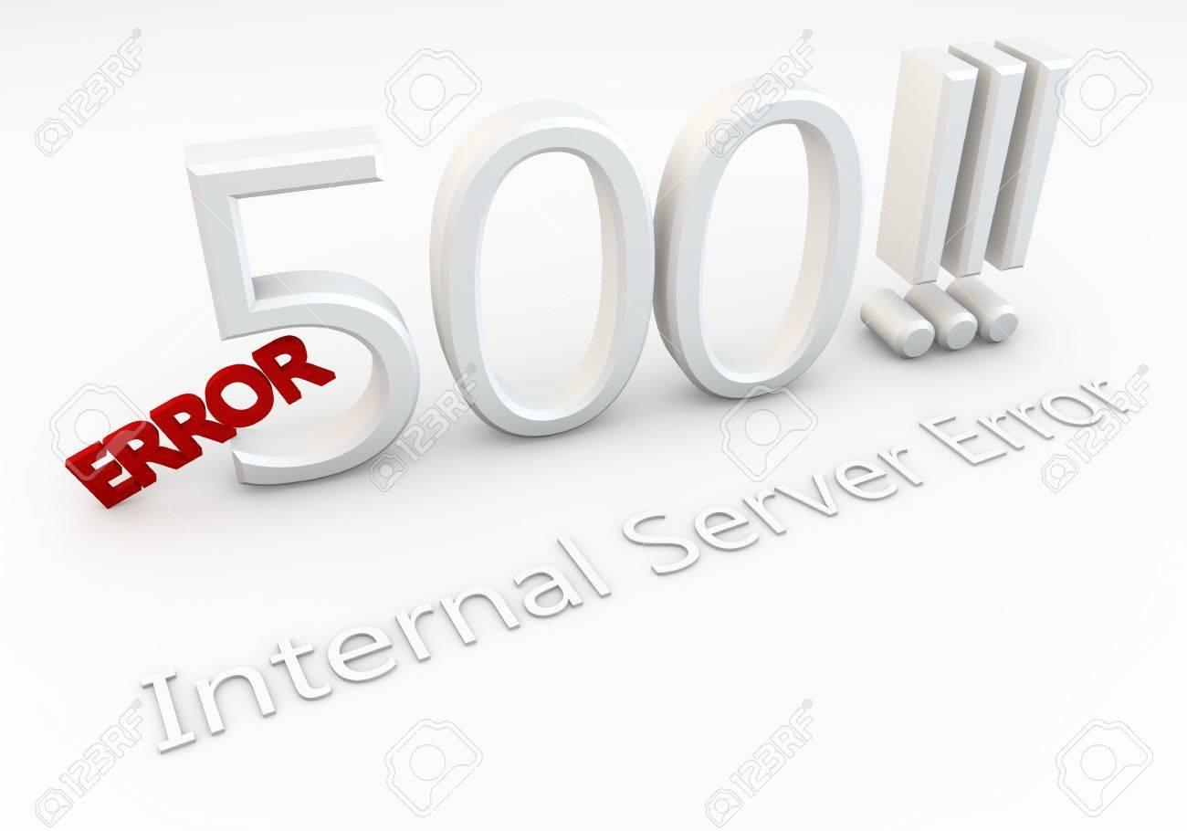 Write Error 500     Internal Server Error Stock Photo - 16241427