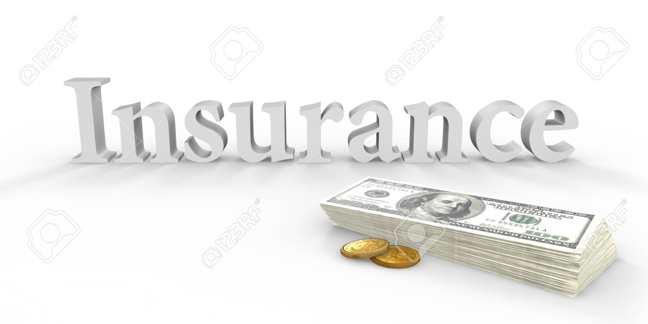Written insurance and stack of banknotes next Stock Photo - 16477274