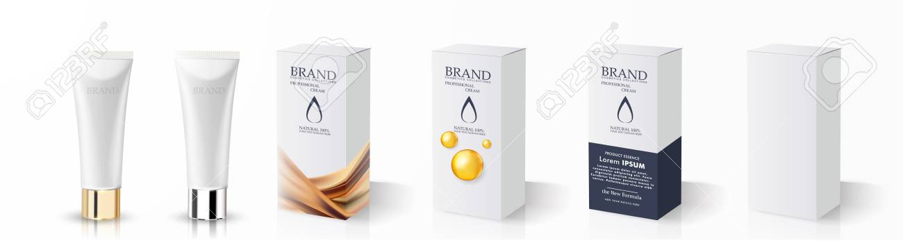 Cream Tube And Packaging Ointment Or Toothpaste Box Royalty Free Cliparts Vectors And Stock Illustration Image 117224903