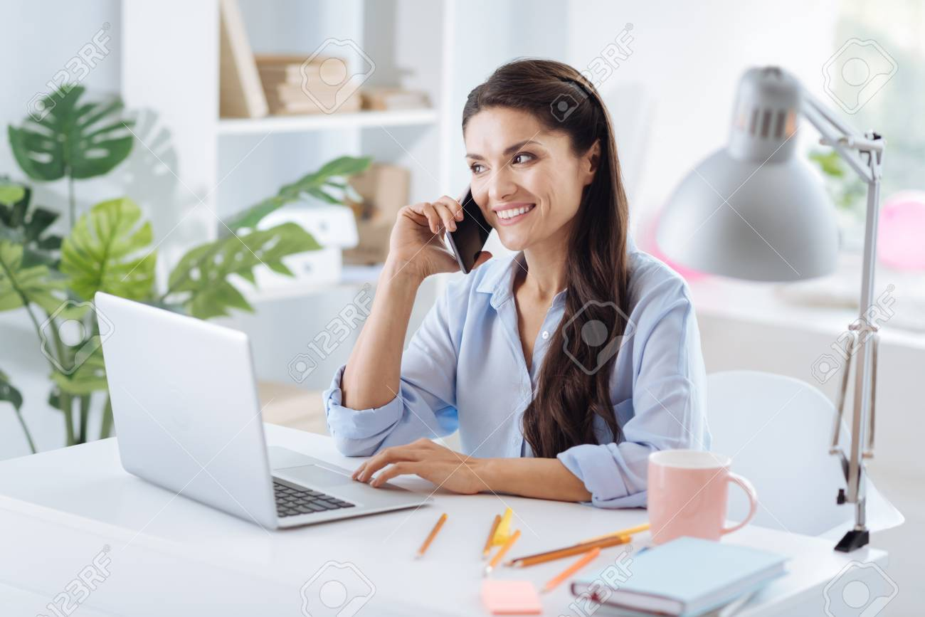 nice person office. Nice Attractive Woman Working In The Office Stock Photo - 88564633 Person G
