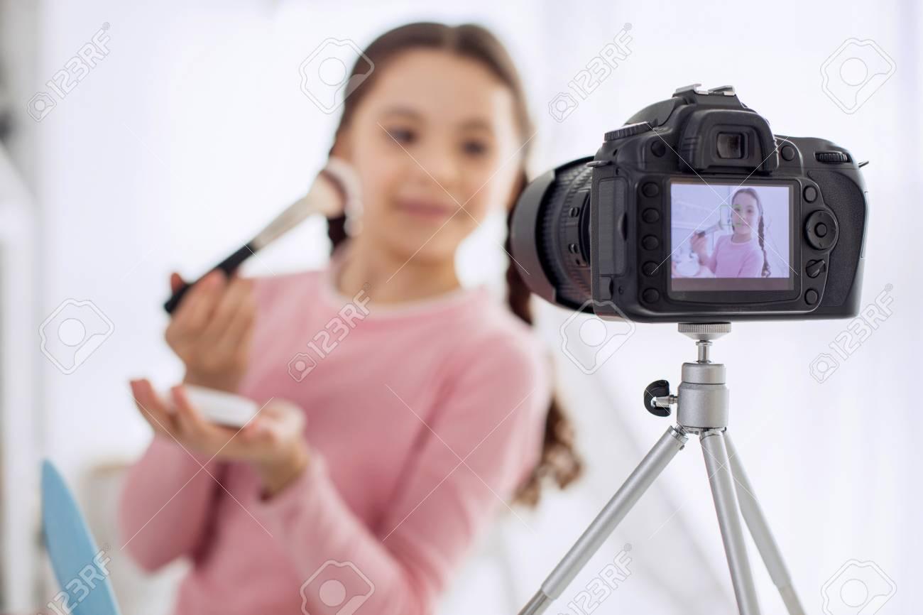 Sexy girl strips on webcam