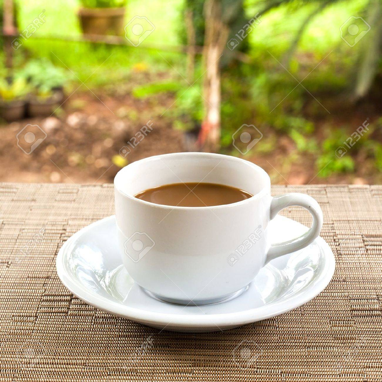 cup of coffee on the table stock photo, picture and royalty free