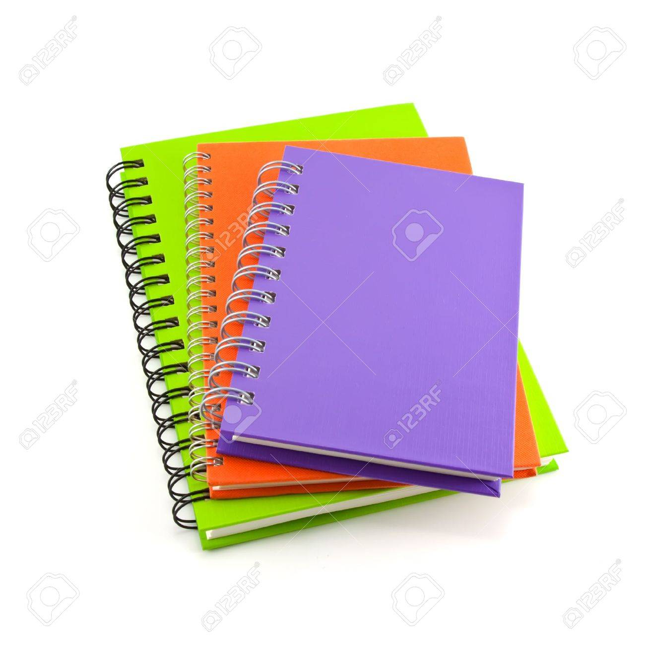 stack of notebook isolated on white background, office equipment Stock Photo - 10662473