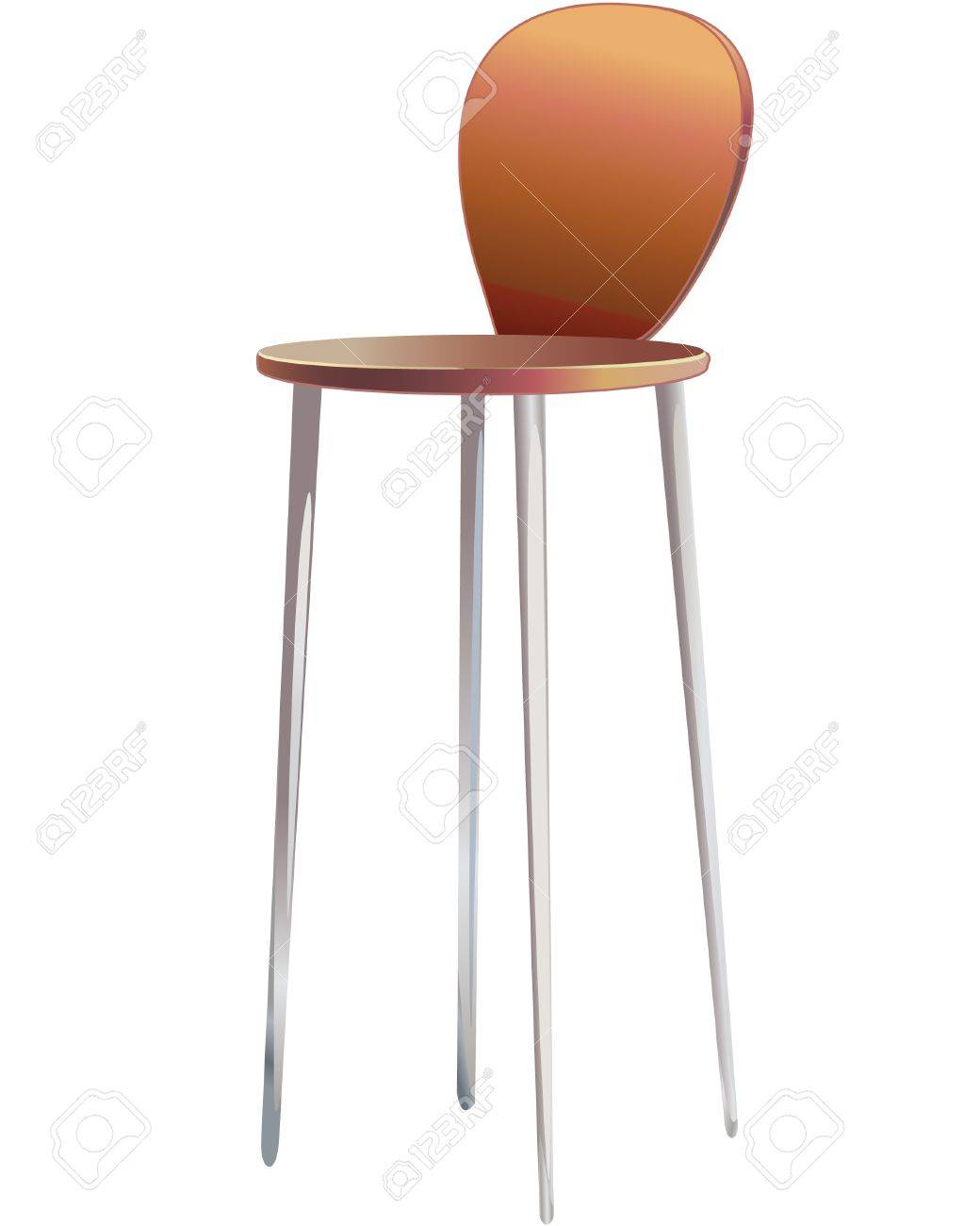 Color drawing a piece of furniture chair Stock Vector - 10224946