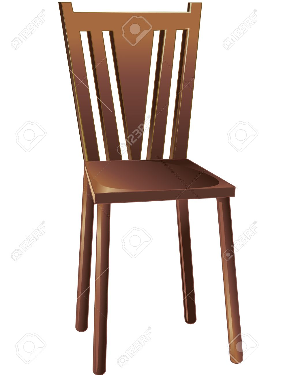 16822 Wooden Chair Stock Vector Illustration And Royalty Free