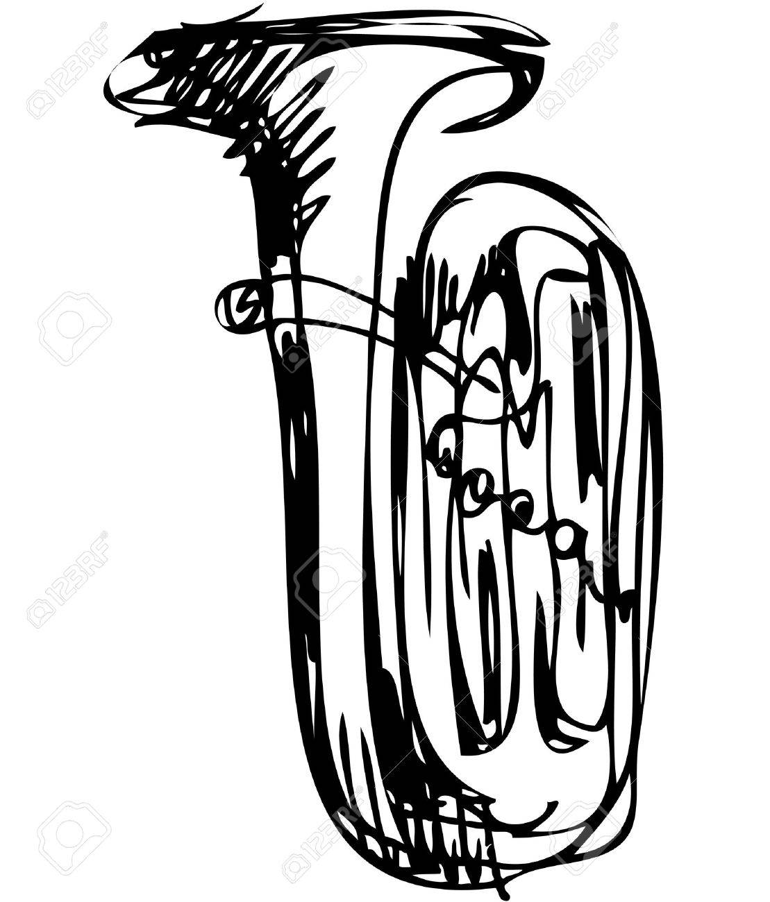 a sketch of the copper tube musical instrument - 11119039
