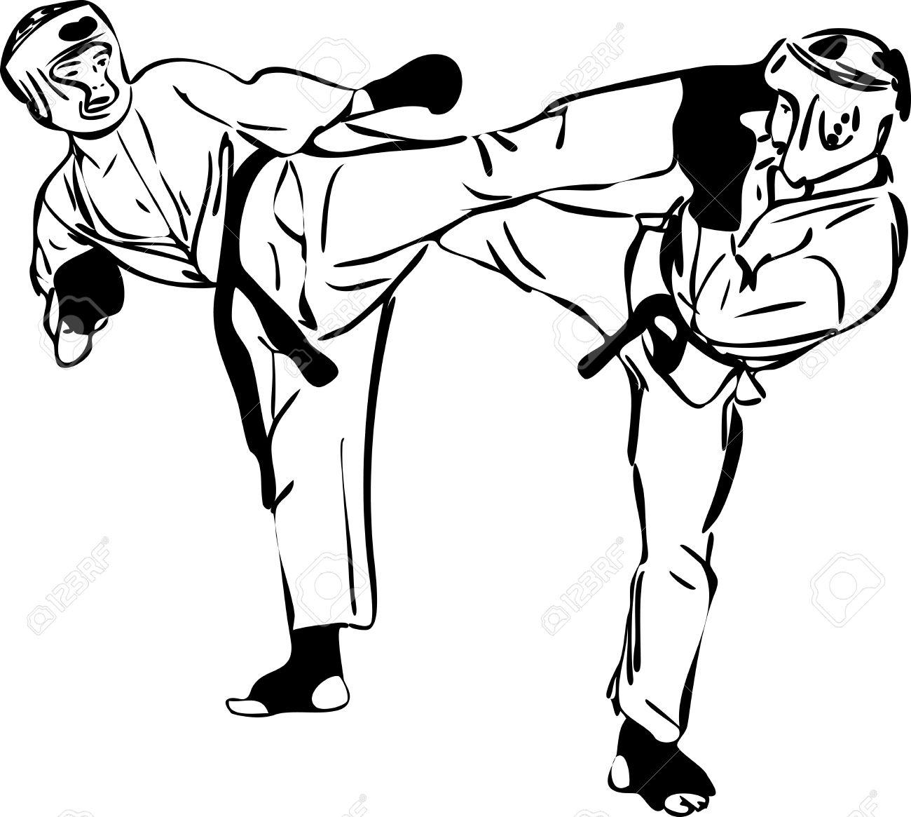 Karate Kyokushinkai Martial Arts Sports Royalty Free Cliparts ...