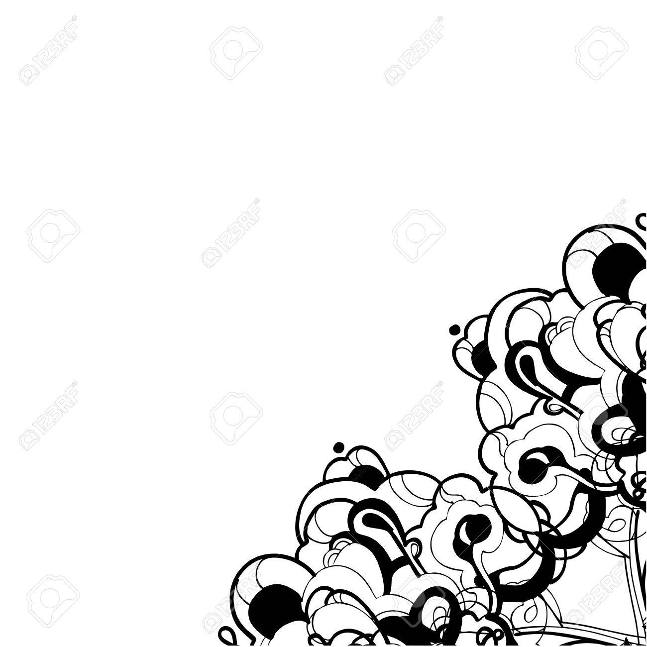 abstract graphic design in black and white Stock Vector - 12358220