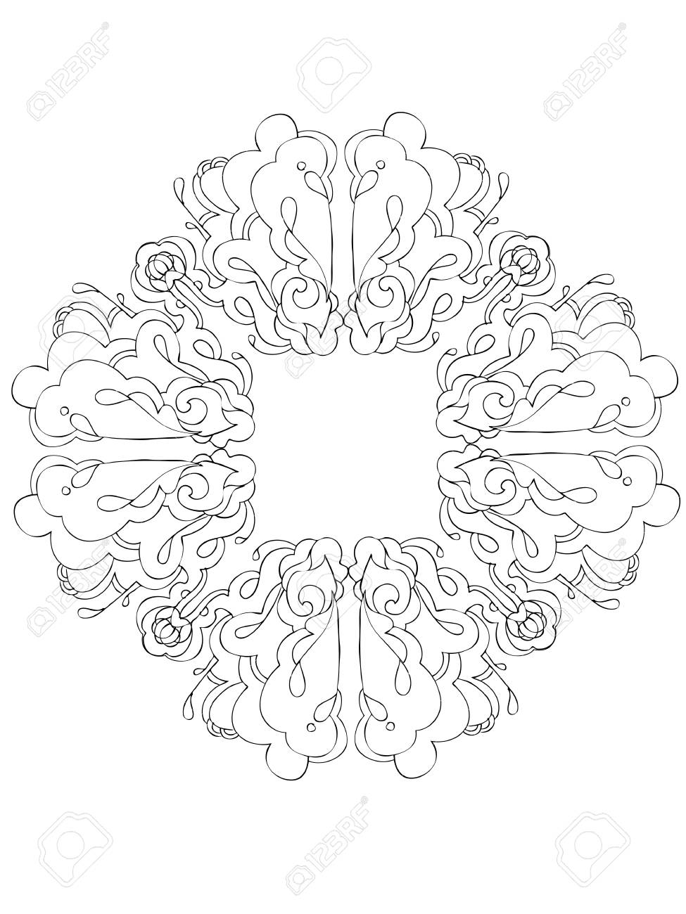 abstract graphic design in black and white Stock Vector - 12358249