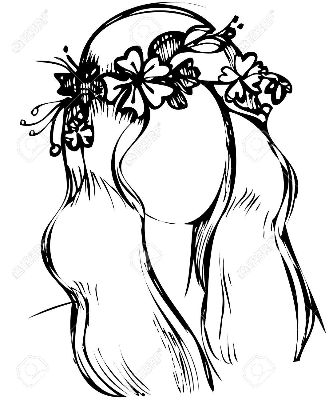 Рисунок цветка на голове