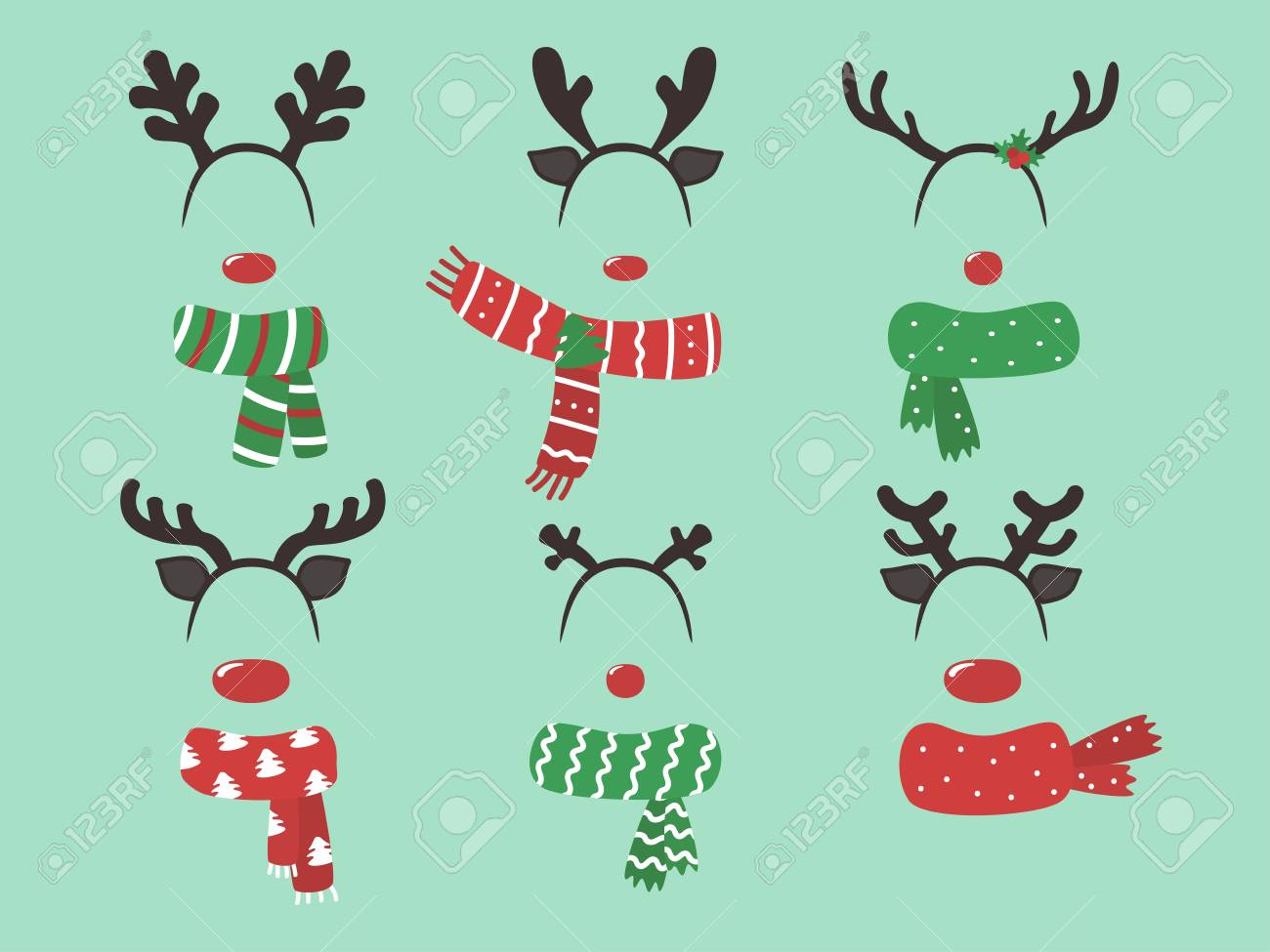 This is a picture of Free Printable Christmas Photo Booth Props for stencil