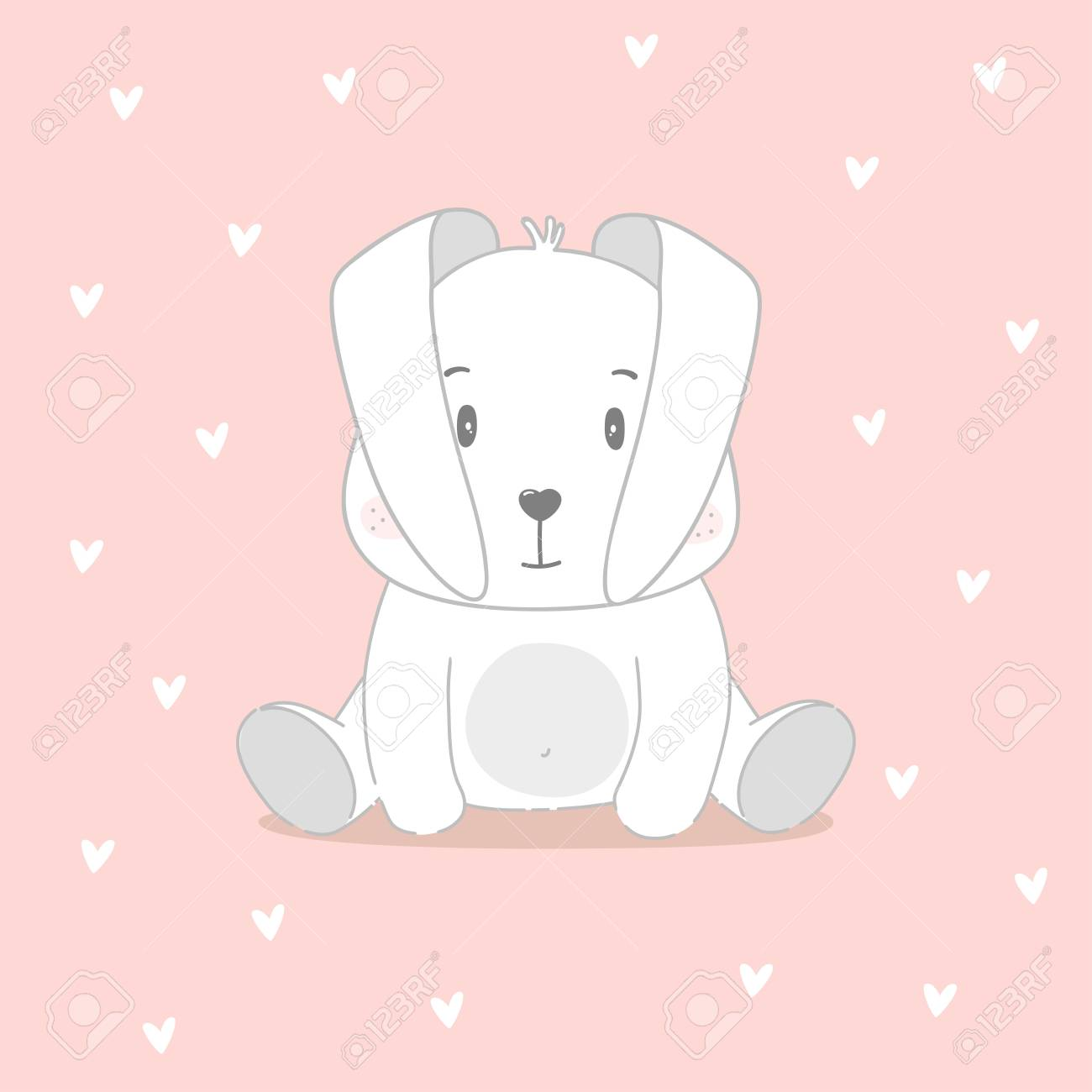 photograph relating to Baby Shower Card Printable titled Lovely bunny print. Cute kid shower card. Vector case in point..