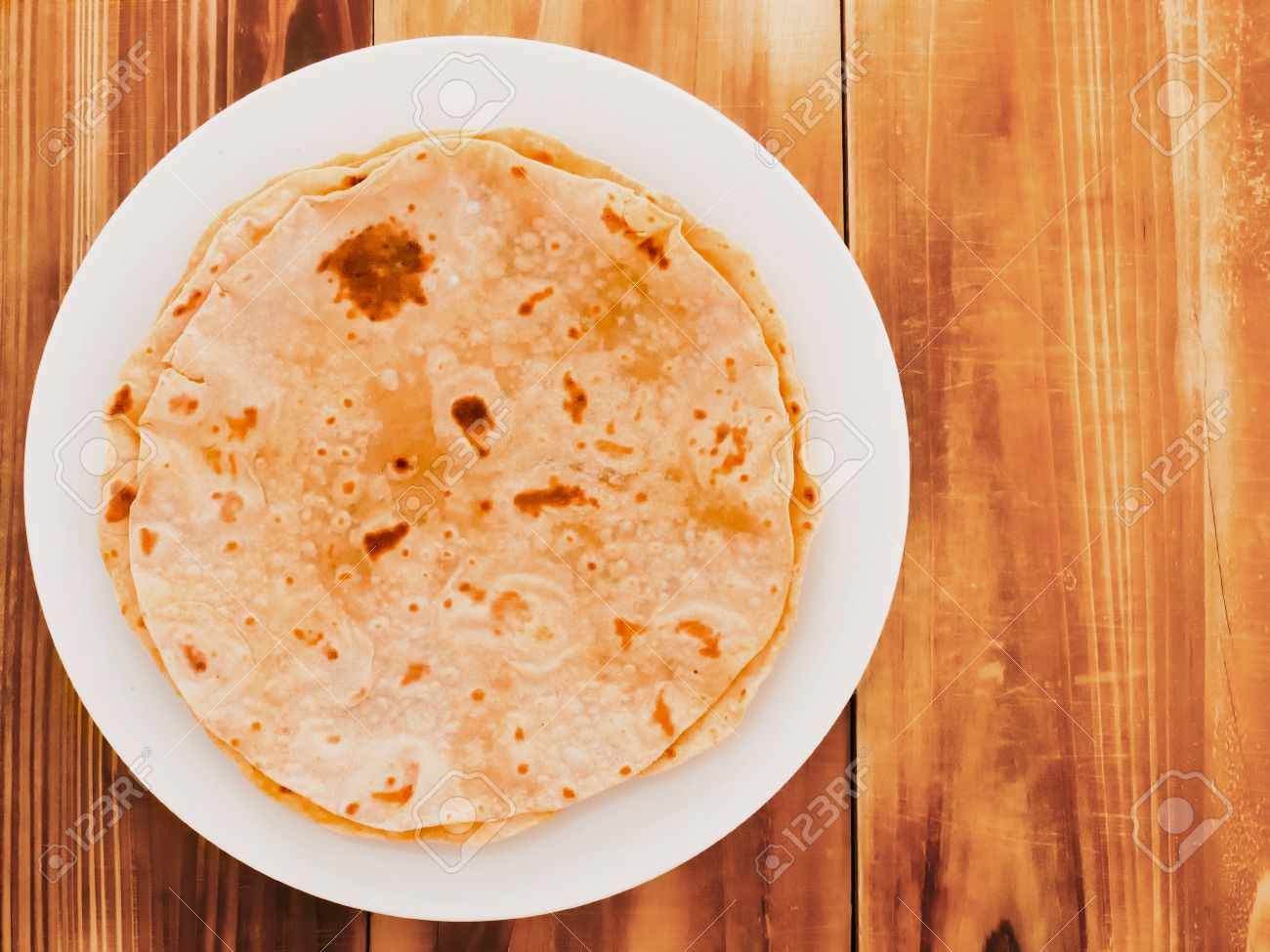 close up of indian chapati bread Stock Photo - 13611464