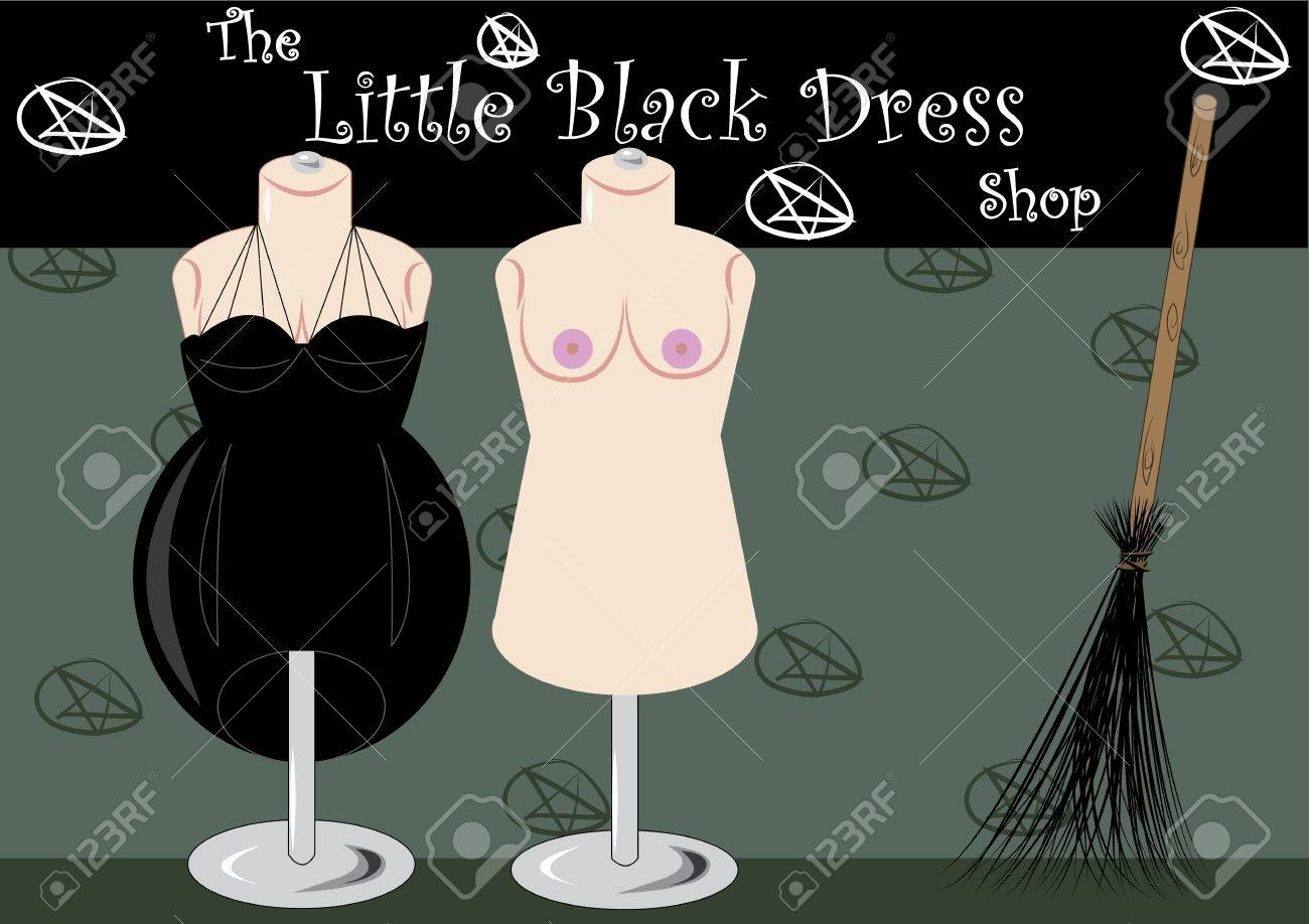 The Little Black Dress Shop Witch Lair Royalty Free Cliparts ...