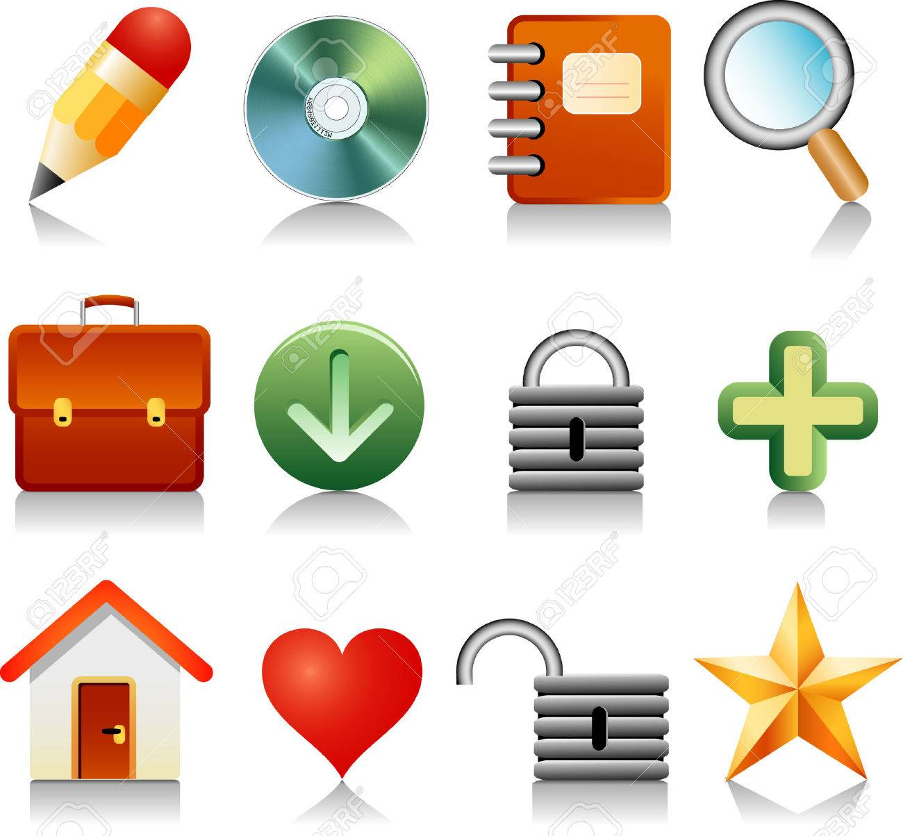 vector icons for internet and other Stock Vector - 2623917