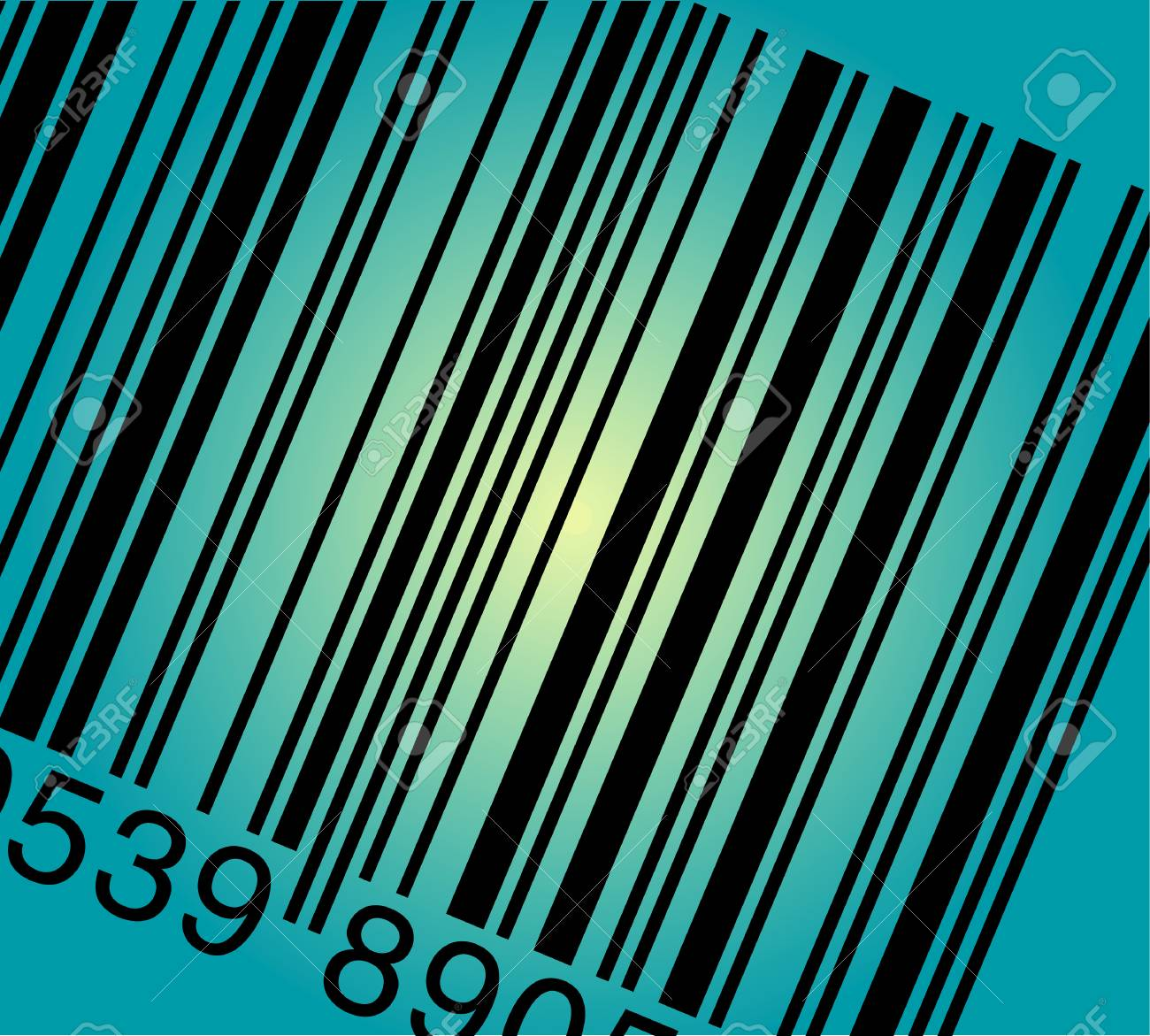 vector illustraton of the scanned bar code Stock Vector - 2978803