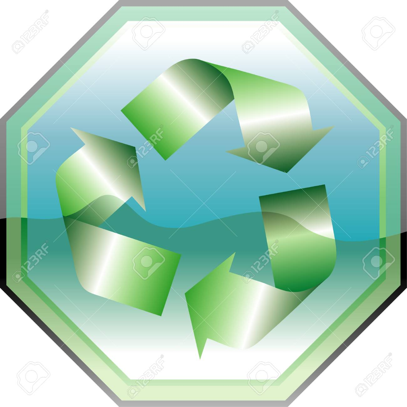 vectorillustration recycling symbol on traffic sign Stock Vector - 3025694