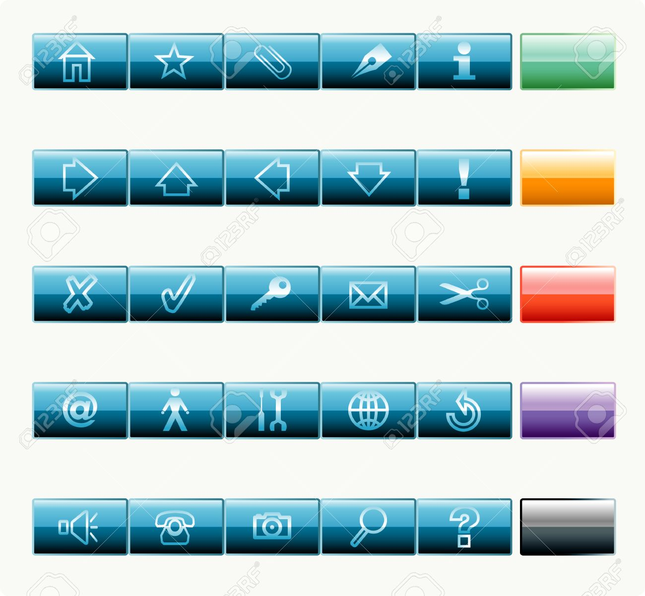 vector buttons for web and computing Stock Vector - 3025711