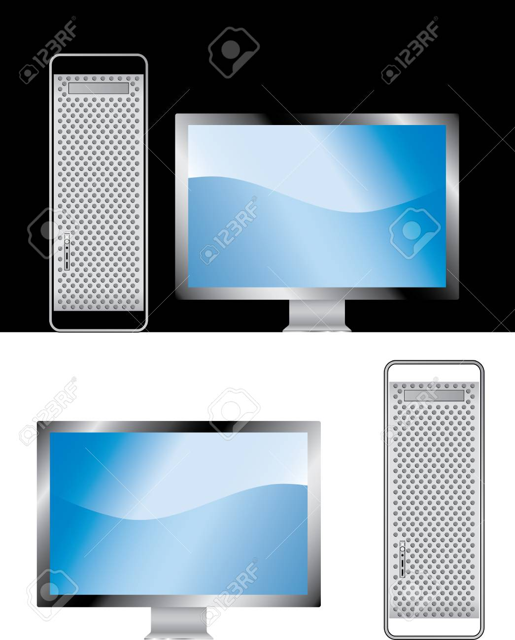 vector illustration of the computer Stock Vector - 3057135
