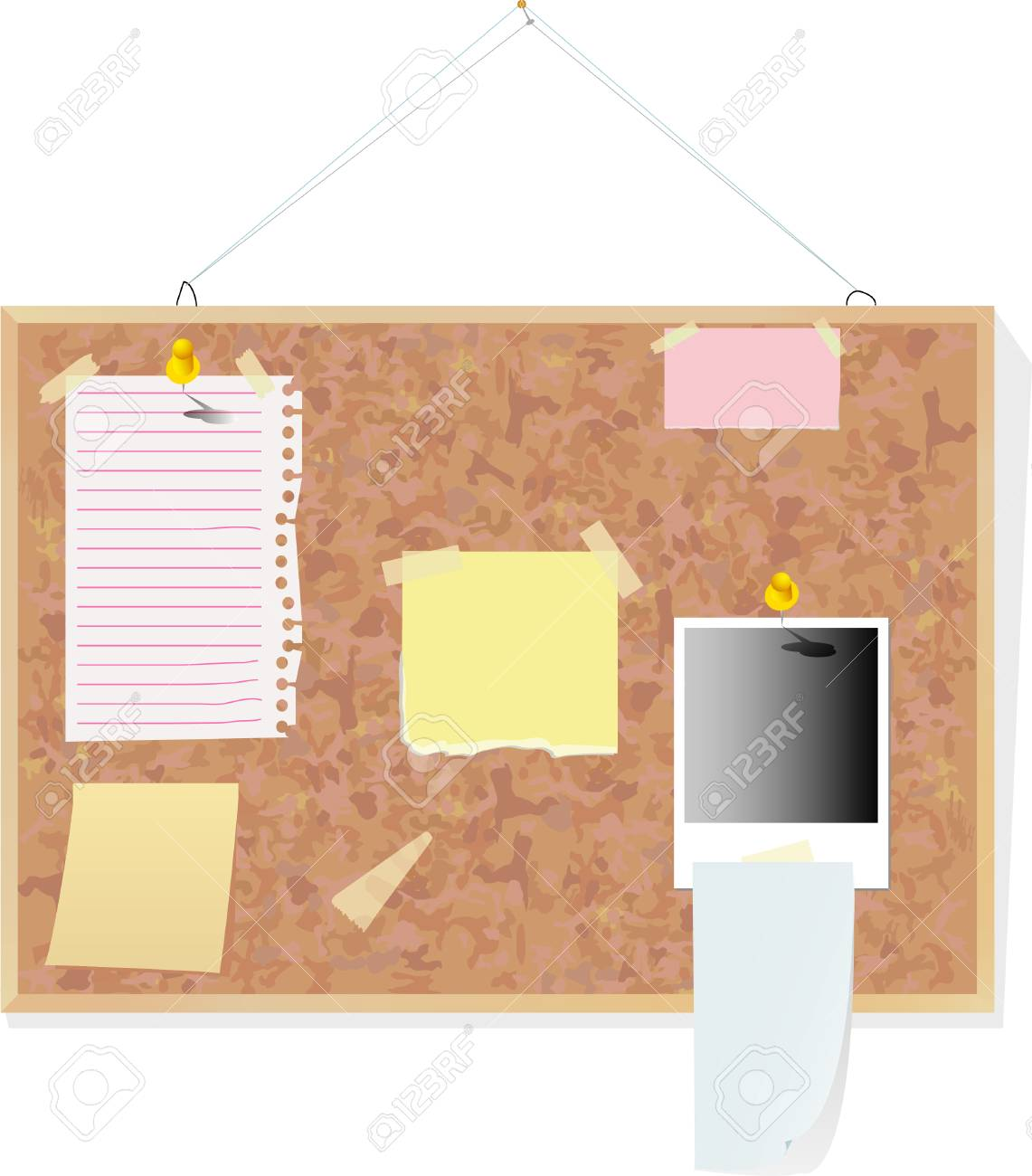 blank notes on the cork board Stock Vector - 3116639