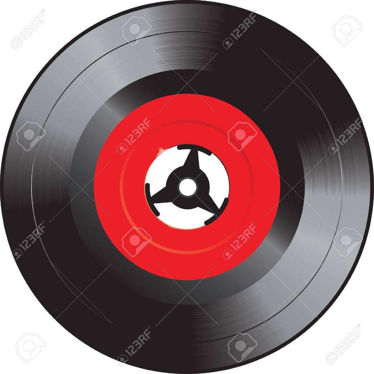 Nieuw Vector Illustration Of The Single Vinyl Record Royalty Free EQ-72