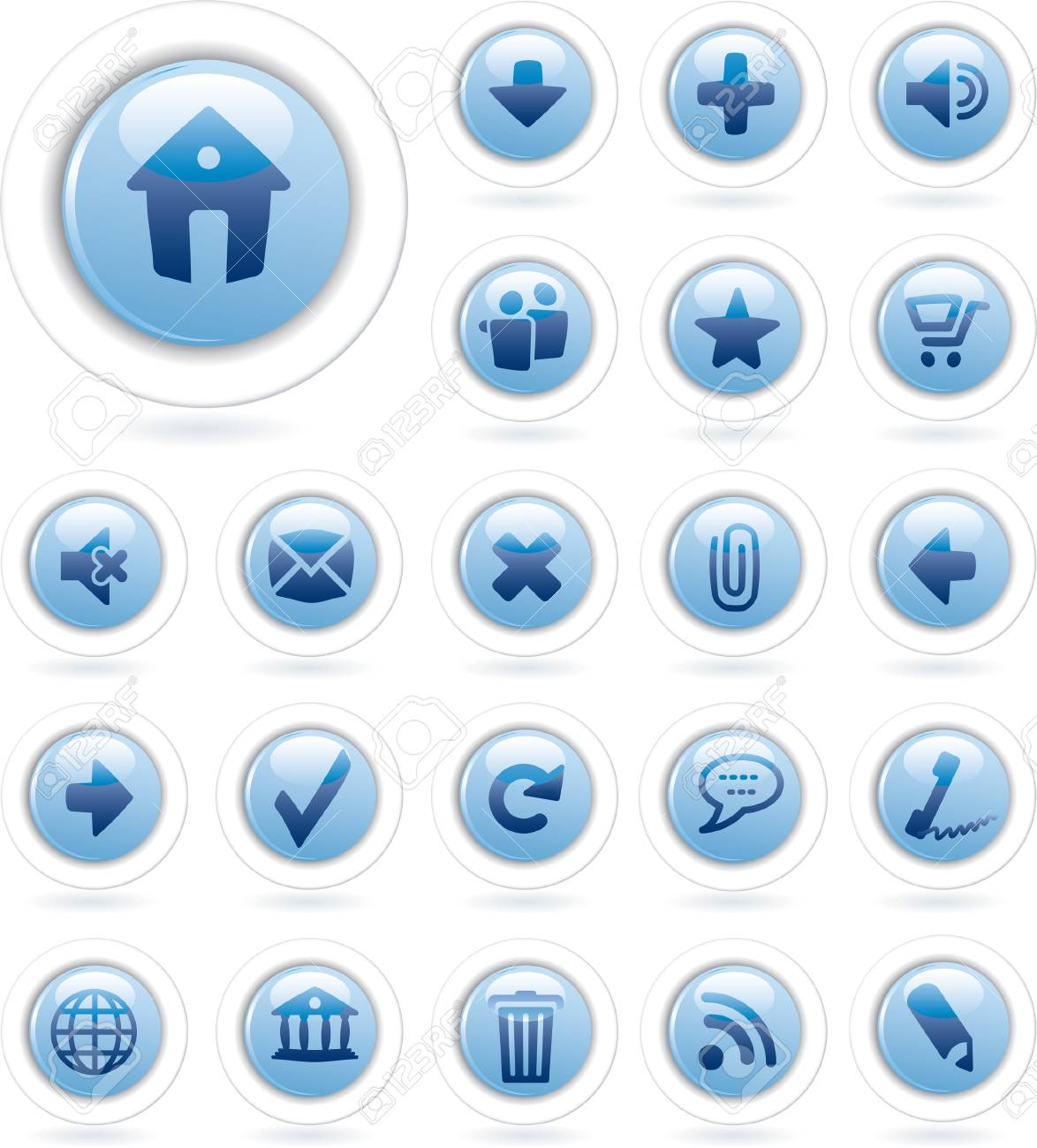 vector buttons for web and computing Stock Vector - 4101933