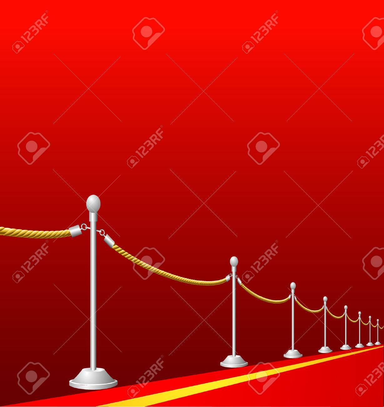 vector background with red carpet Stock Vector - 4183136