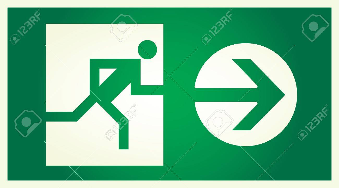 vector  illuminated sign for exit Stock Vector - 5375646