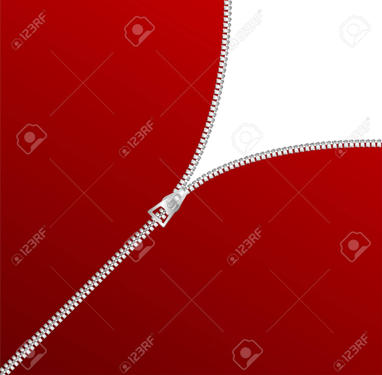vector blank zipper corner Stock Vector - 6056114