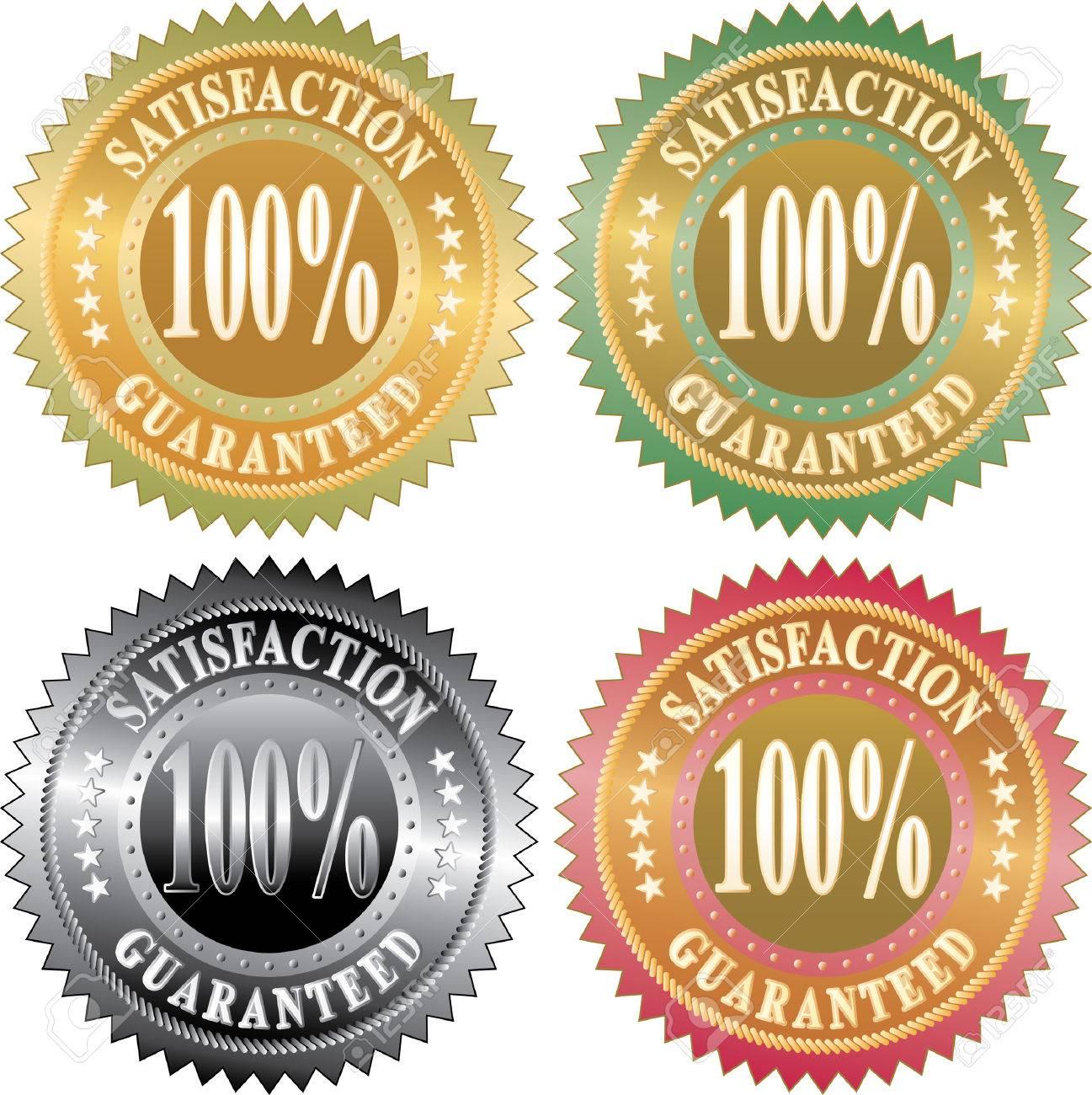 vector labels for satisfaction guaranteed Stock Vector - 6362736