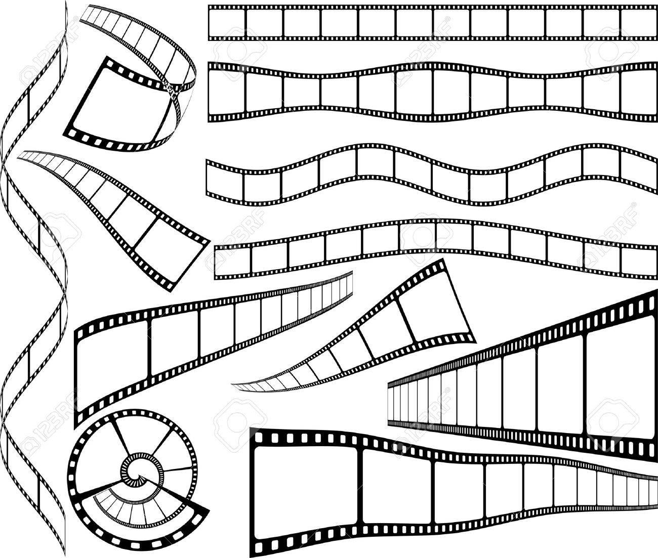 Tiras De Celuloide Película En Blanco Ilustraciones Vectoriales ...