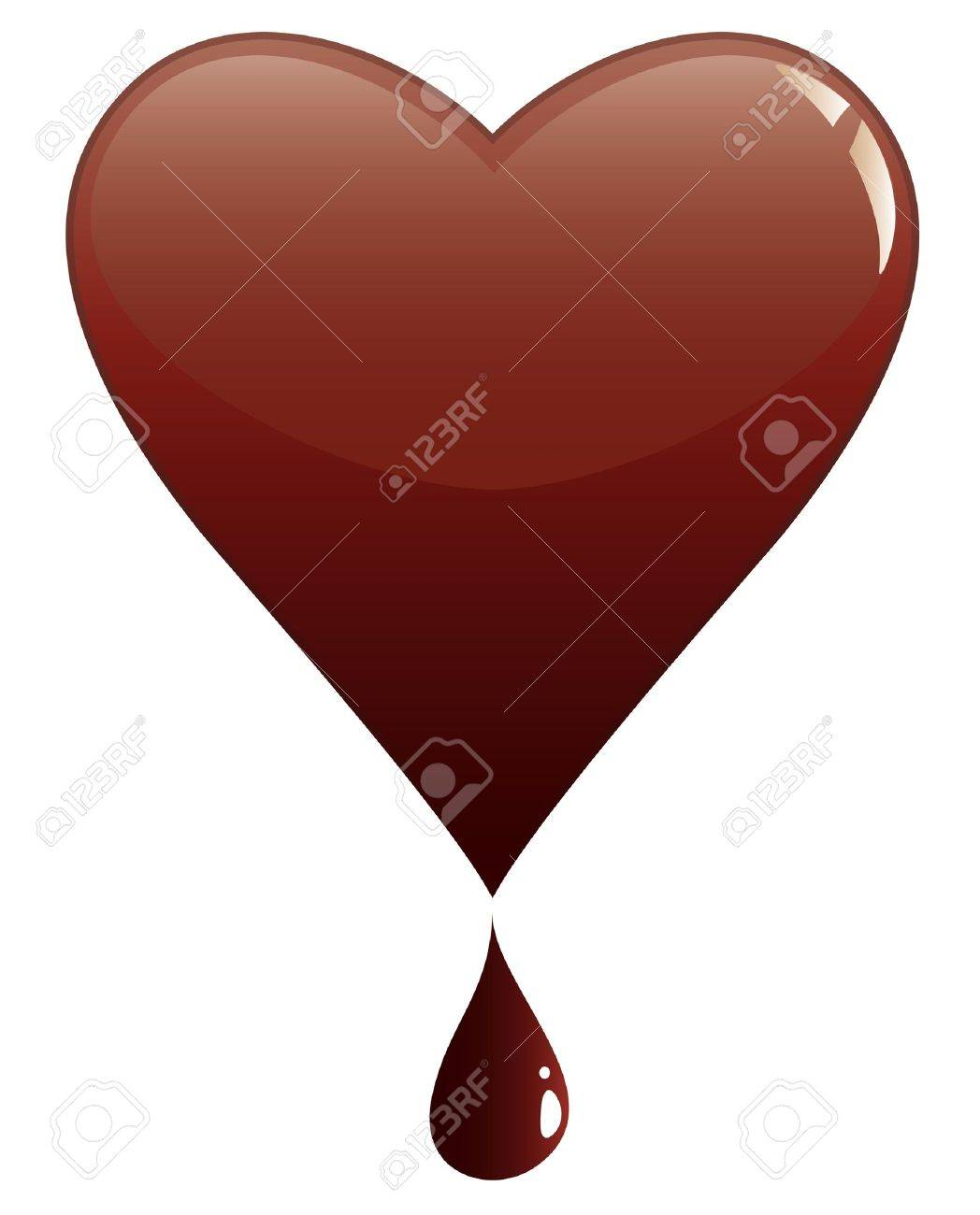 Melting Heart Of Chocolate Royalty Free Cliparts, Vectors, And ...
