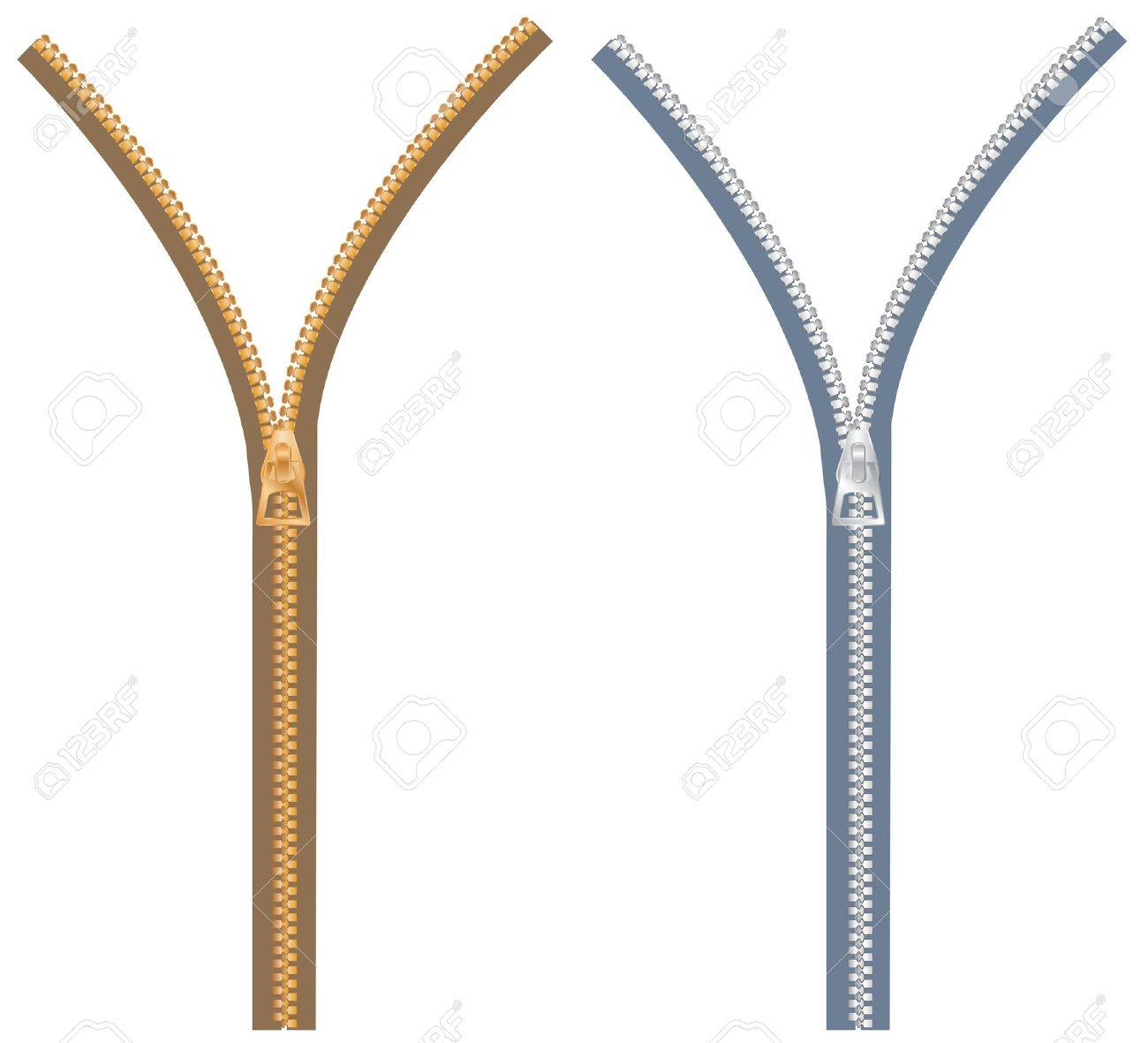 zipper in two color variations Stock Vector - 7196529