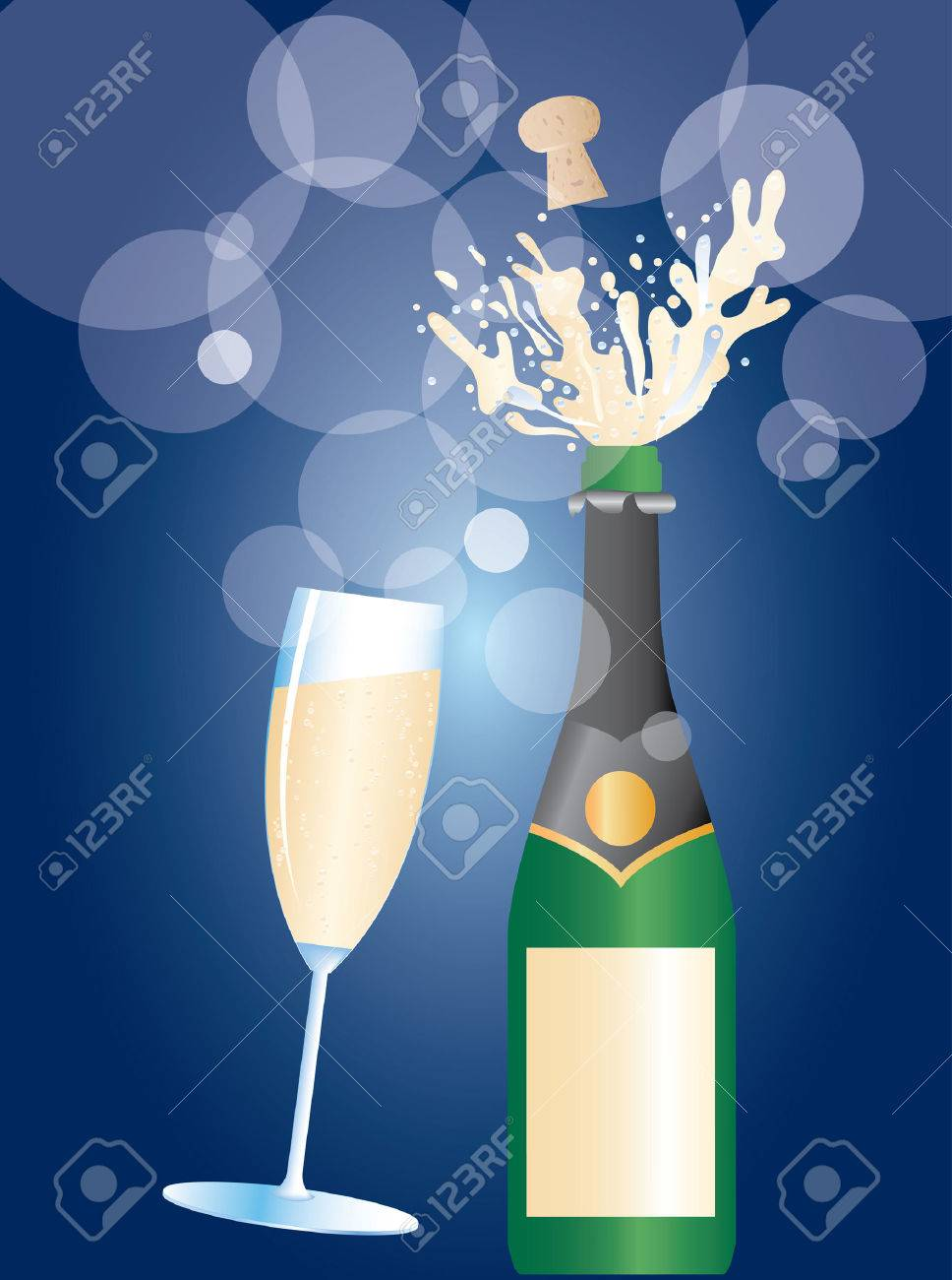 illustration of the champagne explosion Stock Vector - 7913670
