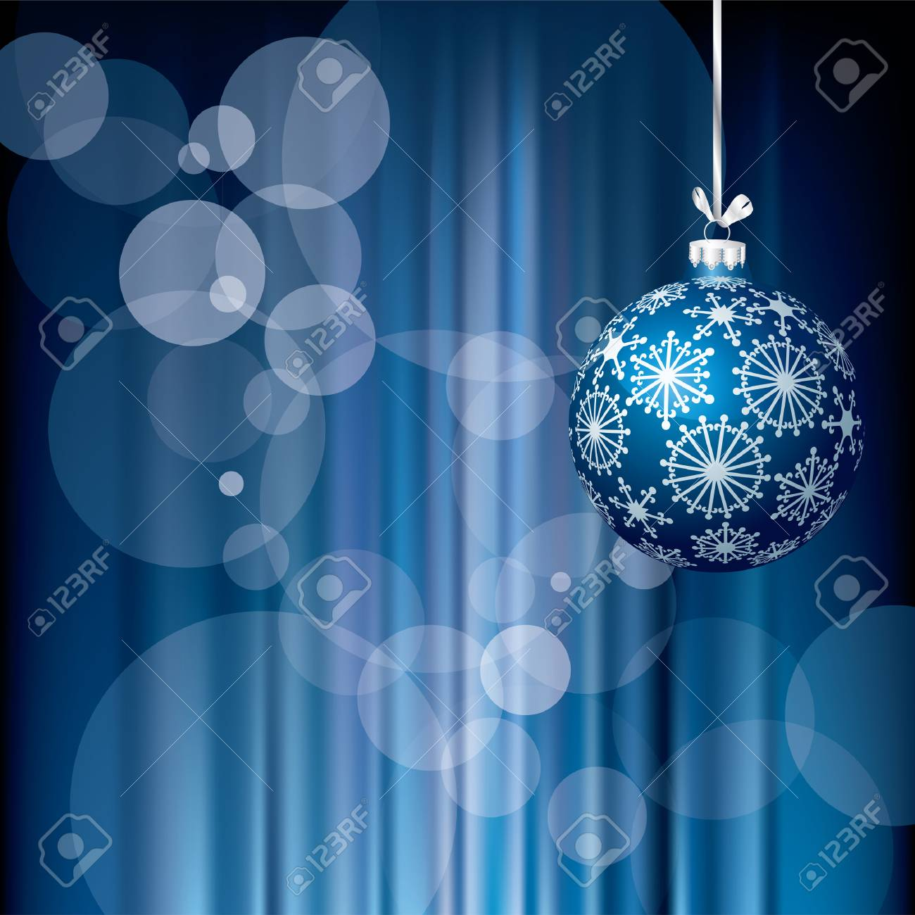 blue Christmas holidays background, layered and fully editable Stock Vector - 8029679